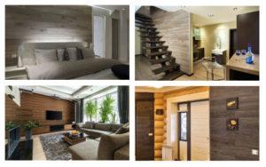 Фото ламината на стене в прихожей, гостинной, спальне