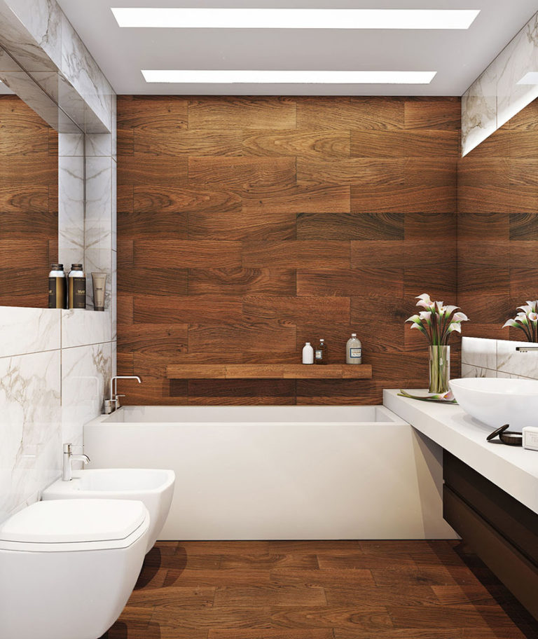 Дизайн стен в ванной комнате плиткой дизайн