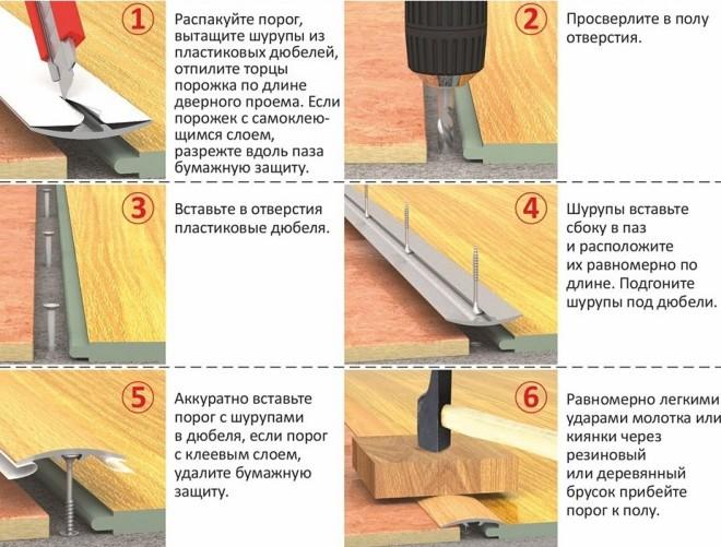 Инструкция по монтажу порожка