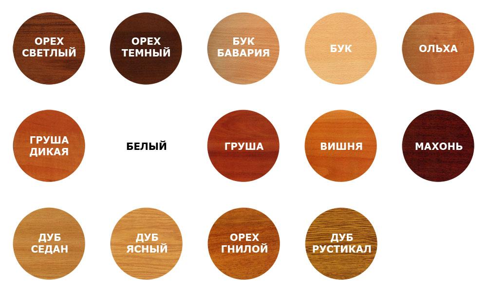 Часто используемые цвета ламината