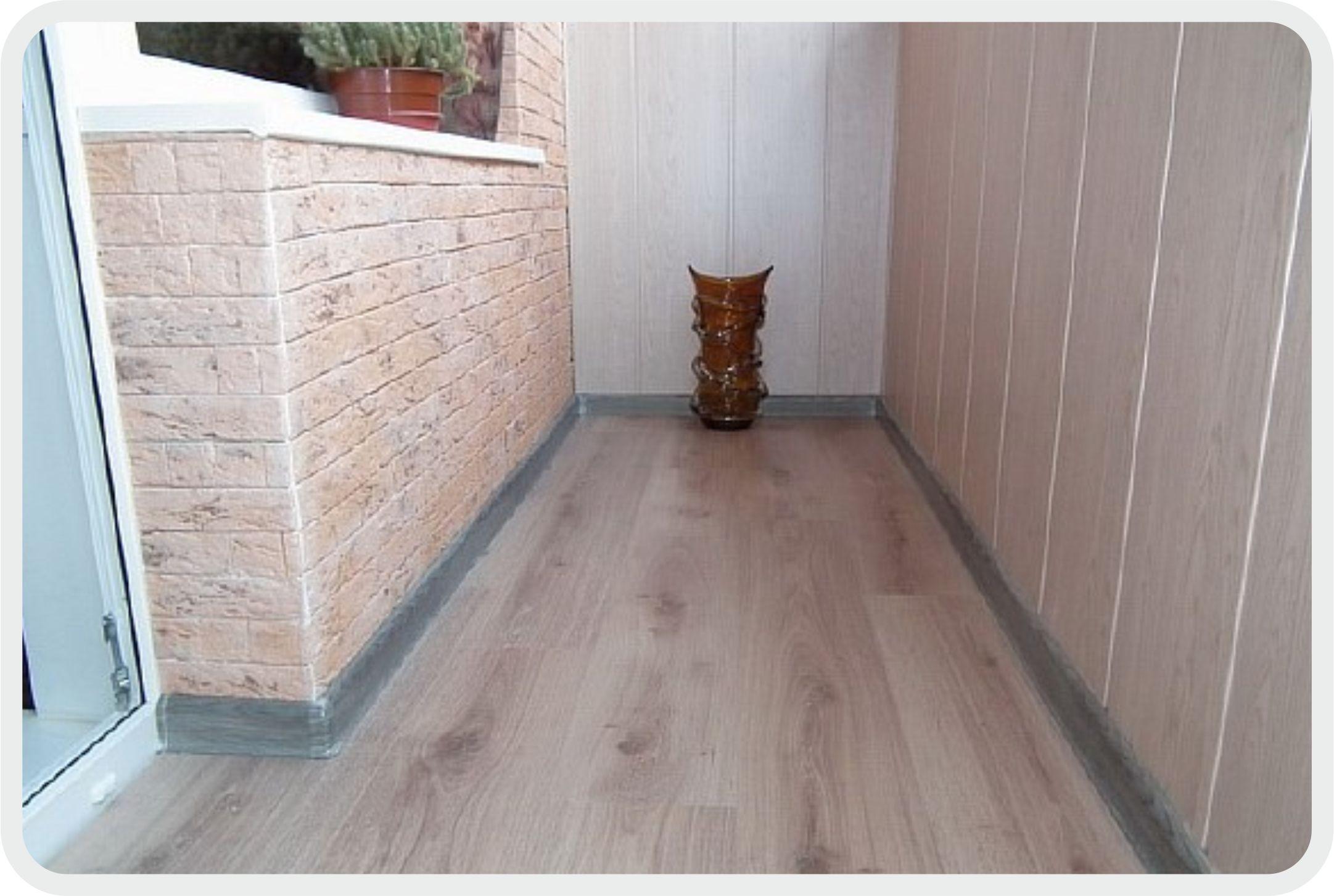 Ламинат на балкон - виды, принципы укладки