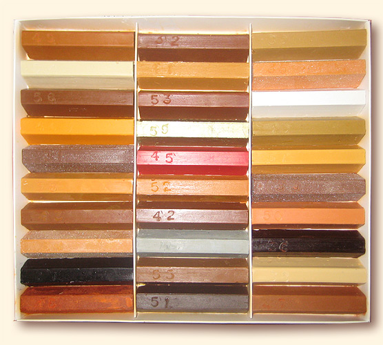 Выбор цвета воскового карандаша