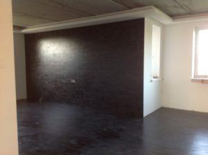 Декор поверхности стены с помощью ламината
