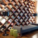 Книжные полки, изготовленные из ламината