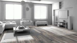 Красивый серый ламинат в интерьере