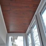 Ламинат, используемый на потолке