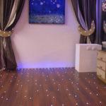 Необычная подсветка ламината на полу