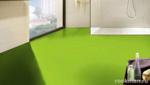 Однотонный зеленый ламинат для дома