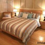 Применение ламината для обустройства спальной комнаты