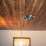 Пример оформления потолка из ламината