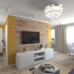 Примеры применения ламината в гостиной