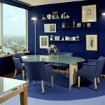 Синий ламинат для дома