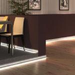 Создаем светодиодную подсветку на полу из ламината