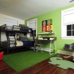 Темный ламинат в детской комнате