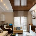 Применение ламината на потолке