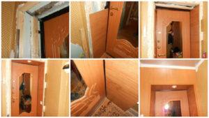Установка дверей из ламината