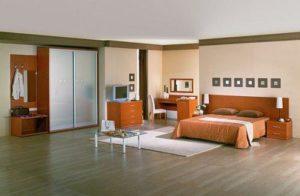 Вариант применения ламината в спальне