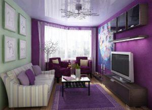Дизайн комнаты с фиолетовым цветом