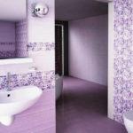 Фиолетовый цвет пола