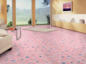 Ламинат розового цвета