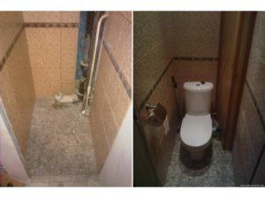 Пример применения ламината в туалете