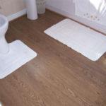 Пример применения ламината в ванной комнате
