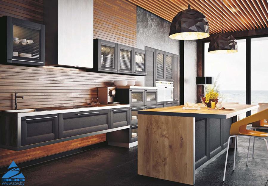 Фасад – лицо вашей кухни. Рамочные и шпонированные фасады