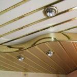 Как устроен подвесной пластиковый потолок