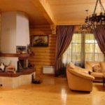 Потолок в деревянном доме