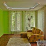 Модные шторы нити в интерьере гостиных