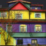 Покраска фасада дома в Москве