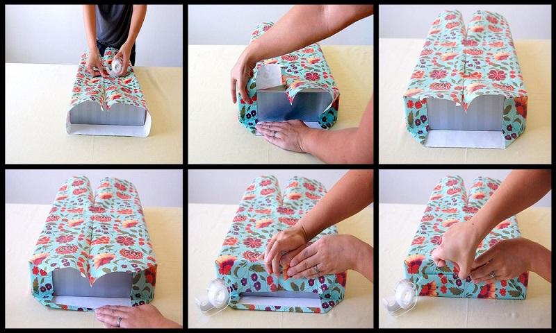 как обернуть подарок в упаковочную бумагу или фольгу пошагово