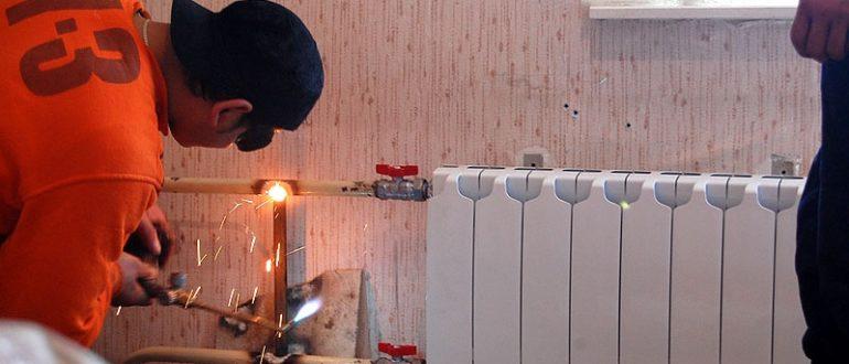замена труб отопления