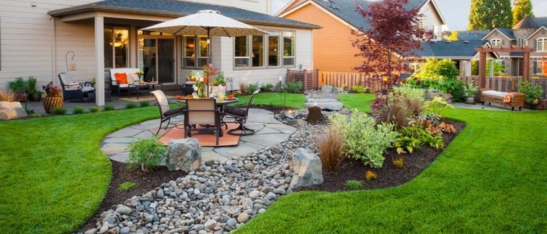 ландшафтный дизайн частного дома - благоустройство и озеленение территории