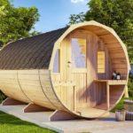 Деревянная баня-бочка в лучших традициях
