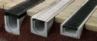 бетонные ливневые лотки